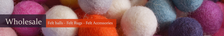 Wholesale Felt Balls, Felt Rugs & Felt Accessories